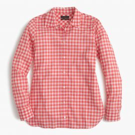 Gingham check shirt at J. Crew