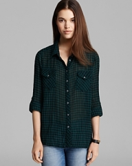 Gingham shirt by CC California at Bloomingdales