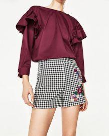 Gingham shorts at Zara
