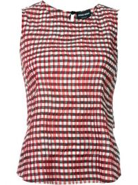 Giorgio Armani Pleated Gingham Top  - Parisi at Farfetch