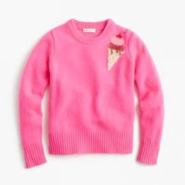Girls  Sequin Ice Cream Sweater at J. Crew