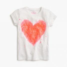 Girls  Splatter Sequin Heart T-Shirt at J. Crew