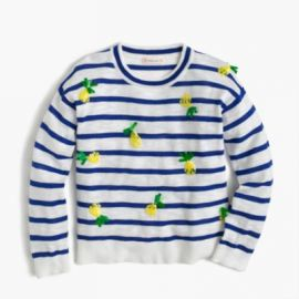 Girls  sequin pineapple popover sweater at J. Crew
