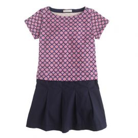 Girls Plum Foulard Dress at J. Crew