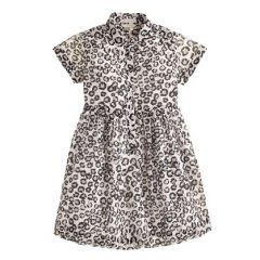 Girls leopard print shirtdress at J. Crew