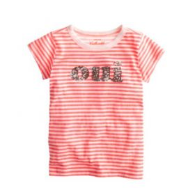 Girls oui-non sequin T-shirt at J. Crew