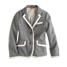 Girls schoolboy blazer in tipped flannel at J. Crew
