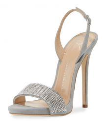 Giuseppe Zanotti Coline Crystal Slingback Sandal at Neiman Marcus