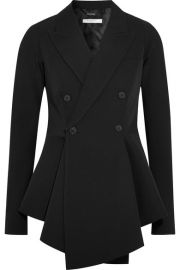 Givenchy   Double-breasted grain de poudre wool peplum blazer at Net A Porter