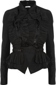 Givenchy   Ruffled taffeta jacket at Net A Porter
