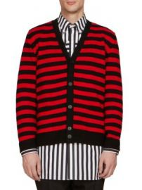 Givenchy - Stripe Wool Cardigan at Saks Fifth Avenue