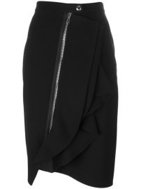 Givenchy Asymmetric Ruffle Trim Skirt at Farfetch