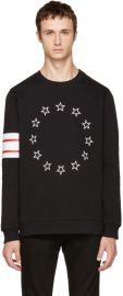 Givenchy Black Circle Stars Sweatshirt at SSENSE