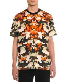 Givenchy Columbian Camo-Print Tee Orange at Neiman Marcus