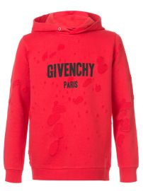 Givenchy Distressed Logo Print Hoodie  1 350 - Buy AW17 Online - Fast Delivery  Price at Farfetch