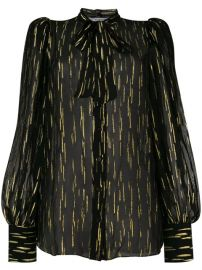 Givenchy Fil Coup  233  Pussy Bow Blouse - Farfetch at Farfetch