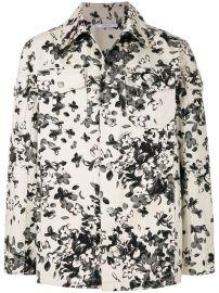 Givenchy Floral Shirt Jacket at Farfetch