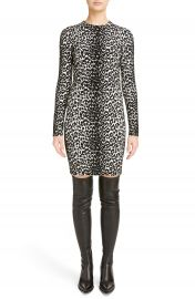 Givenchy Leopard Jacquard Body-Con Dress at Nordstrom
