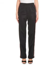 Givenchy Logo-Tape Pull-On Pants  Black at Neiman Marcus