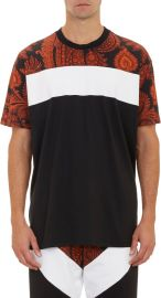Givenchy Paisley Colorblock Tee at Barneys