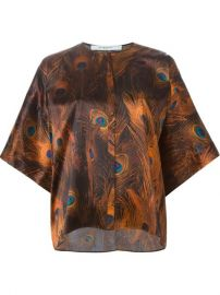 Givenchy Peacock Feather Print Top - Julian Fashion at Farfetch
