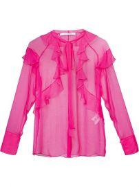 Givenchy Sheer Ruffled Shirt at Farfetch