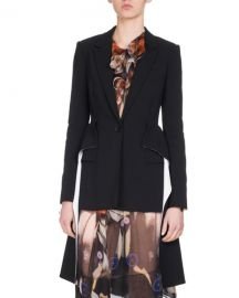 Givenchy Wool Blazer with Cascading Peplum at Neiman Marcus