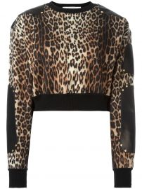 Givenchy leather panel cropped jumper at Farfetch