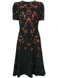 Givenchy night pansy printed tea dress at Farfetch