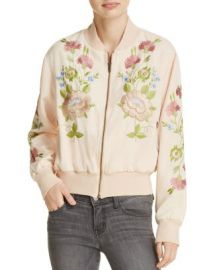 Glamorous Embroidered Bomber Jacket at Bloomingdales