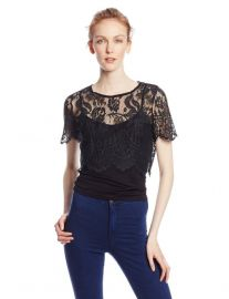 Glamorous Lace Crop Top at Amazon