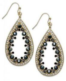 Glass Stone Teardrop Earrings at Macys