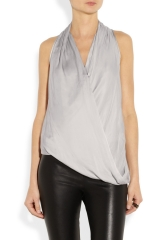 Glassy draped top by Helmut Lang at Net A Porter