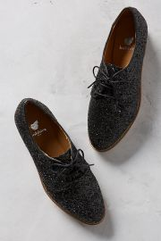 Glitter oxfords at Anthropologie
