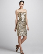 Glittery strapless dress at Neiman Marcus