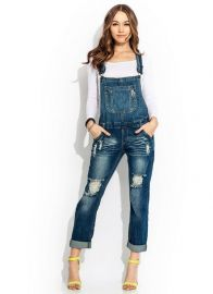 Go Jane Tomboy Destroyed Overalls at Go Jane