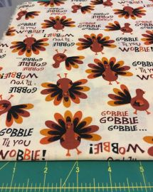 Gobble til you wobble fabric at Etsy