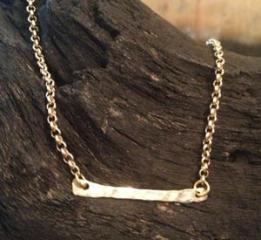 Gold Bar Necklace at Kami Lerner