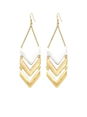 Gold Chevron Earrings at Pink Mascara
