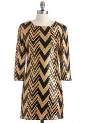 Gold Lang Syne Dress at ModCloth