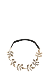 Gold Leaf Headband at Boohoo