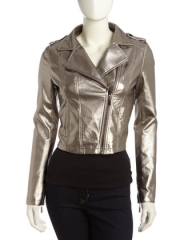 Gold Moto Jacket at Last Call