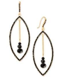 Gold-Tone Stone Orbital Drop Earrings at Macys
