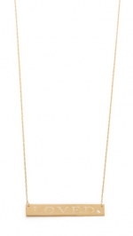 Gold bar necklace like Robins at Shopbop