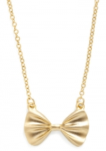 Gold bow necklace like Tamaras at Modcloth