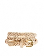 Gold plaited belt at Asos