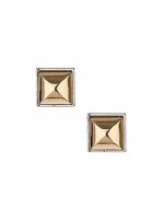 Gold square earrings at Dorothy Perkins