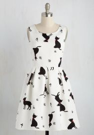 Good Mews Travels Fast Dress at ModCloth