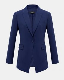 Good Wool Long Blazer  at Theory