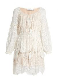 Gossamer floral-embroidered silk dress at Matches